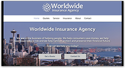 insurance website template - clearview