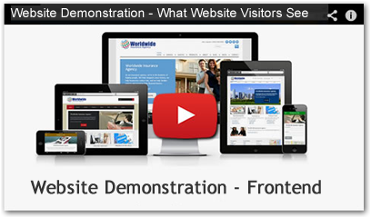 insurance agency website demo video client view