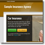 brown Insurance Agent Website