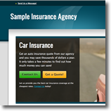 turquoise Insurance Agent Website