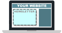 embedded insurance email newsletters in your website