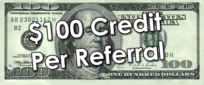 customer referral program one hundred dollars