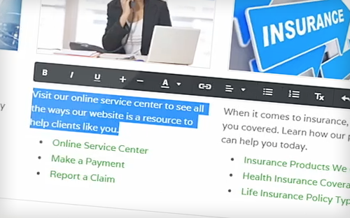 easy website management system for multiple insurance agencies